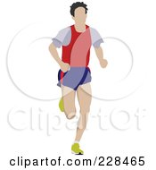 Royalty Free RF Clipart Illustration Of A Male Jogger 3 by leonid