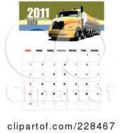 July 2011 Big Rig Calendar by leonid