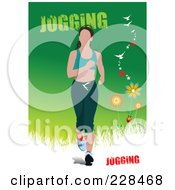 Royalty Free RF Clipart Illustration Of A Jogger Woman 1 by leonid