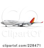 Royalty Free RF Clipart Illustration Of A Commercial Airliner 21