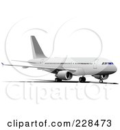 Royalty Free RF Clipart Illustration Of A Commercial Airliner 14 by leonid