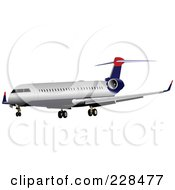 Royalty Free RF Clipart Illustration Of A Commercial Airliner 27