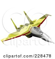 Royalty Free RF Clipart Illustration Of A Military Jet 6