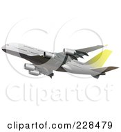 Royalty Free RF Clipart Illustration Of A Commercial Airliner 8