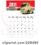 March 2011 Big Rig Calendar by leonid