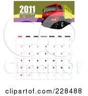 October 2011 Big Rig Calendar by leonid