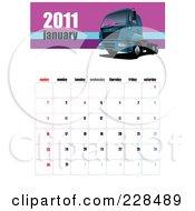 January 2011 Big Rig Calendar by leonid