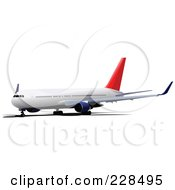 Royalty Free RF Clipart Illustration Of A Commercial Airliner 2