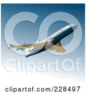 Royalty Free RF Clipart Illustration Of A Commercial Airliner 22