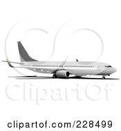 Royalty Free RF Clipart Illustration Of A Commercial Airliner 25