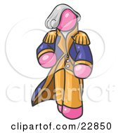Clipart Illustration Of A Pink George Washington Character by Leo Blanchette