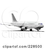Royalty Free RF Clipart Illustration Of A Commercial Airliner 24
