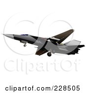 Royalty Free RF Clipart Illustration Of A Military Jet 5