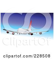 Royalty Free RF Clipart Illustration Of A Commercial Airliner 6