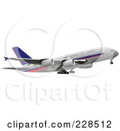 Royalty Free RF Clipart Illustration Of A Commercial Airliner 23
