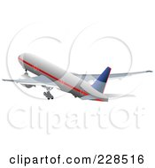 Royalty Free RF Clipart Illustration Of A Commercial Airliner 20