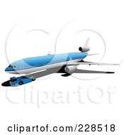 Royalty Free RF Clipart Illustration Of A Commercial Airliner 9