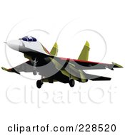 Royalty Free RF Clipart Illustration Of A Military Jet 4