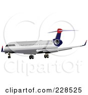Royalty Free RF Clipart Illustration Of A Commercial Airliner 16