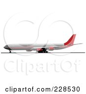 Royalty Free RF Clipart Illustration Of A Commercial Airliner 7