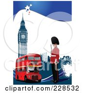 Royalty Free RF Clipart Illustration Of A London Scene by leonid