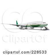 Royalty Free RF Clipart Illustration Of A Commercial Airliner 3