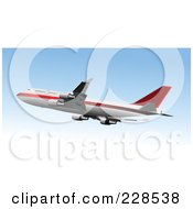Royalty Free RF Clipart Illustration Of A Commercial Airliner 19