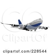 Royalty Free RF Clipart Illustration Of A Commercial Airliner 18