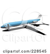 Royalty Free RF Clipart Illustration Of A Commercial Airliner 11