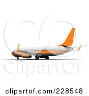 Royalty Free RF Clipart Illustration Of A Commercial Airliner 10