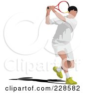 Royalty Free RF Clipart Illustration Of A Tennis Man 1