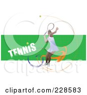 Royalty Free RF Clipart Illustration Of A Tennis Player Background 22