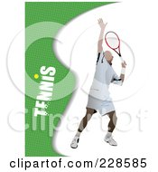 Royalty Free RF Clipart Illustration Of A Tennis Player Background 3