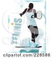 Royalty Free RF Clipart Illustration Of A Tennis Player Background 19