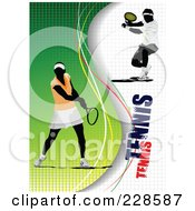 Royalty Free RF Clipart Illustration Of A Tennis Player Background 21