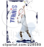 Royalty Free RF Clipart Illustration Of A Tennis Player Background 11