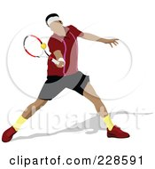 Royalty Free RF Clipart Illustration Of A Tennis Man 5