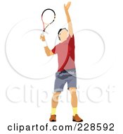 Royalty Free RF Clipart Illustration Of A Tennis Man 3