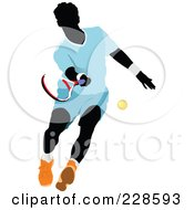 Royalty Free RF Clipart Illustration Of A Tennis Man 10