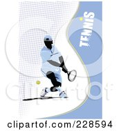 Royalty Free RF Clipart Illustration Of A Tennis Player Background 6