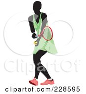 Royalty Free RF Clipart Illustration Of A Tennis Woman 5