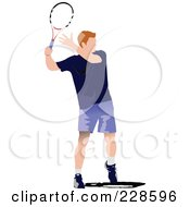 Royalty Free RF Clipart Illustration Of A Tennis Man 12
