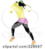 Royalty Free RF Clipart Illustration Of A Tennis Woman 8