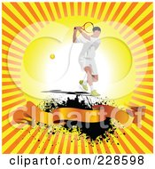 Royalty Free RF Clipart Illustration Of A Tennis Player Background 4