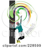 Royalty Free RF Clipart Illustration Of A Tennis Player Background 16