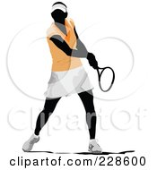 Royalty Free RF Clipart Illustration Of A Tennis Woman 1