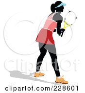 Royalty Free RF Clipart Illustration Of A Tennis Woman 7