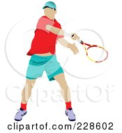 Royalty Free RF Clipart Illustration Of A Tennis Man 2