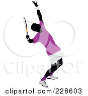 Royalty Free RF Clipart Illustration Of A Tennis Man 11