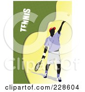 Royalty Free RF Clipart Illustration Of A Tennis Player Background 5
